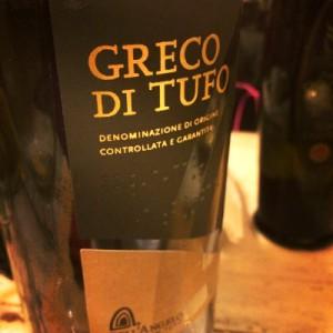 etichetta vino greco di Tufo di angelo muto