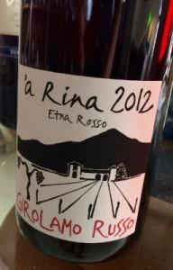 a' rina ossia la sabbia che cade a pioggia sulle vigne dell'Etna