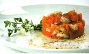 immagine ricetta sformato di gamberi e zucca gialla