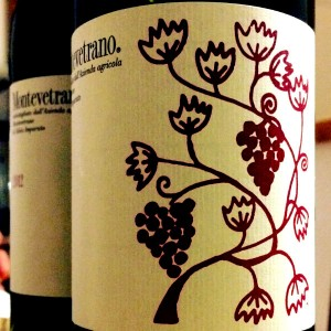 etichetta vino montevetrano