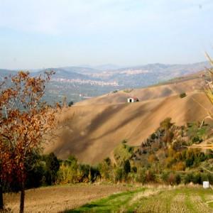il paesaggio a novembre nel Vulture